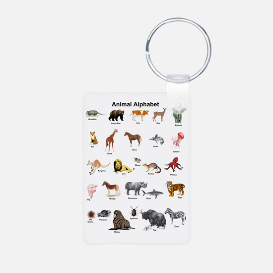 Animal pictures alphabet Keychains