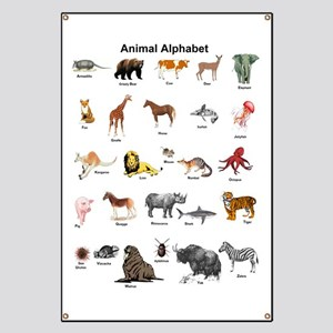 Animal pictures alphabet Banner