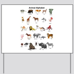 Animal pictures alphabet Yard Sign