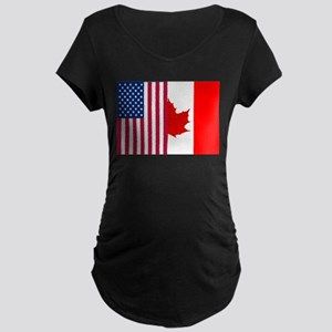 USA - Canada Maternity T-Shirt
