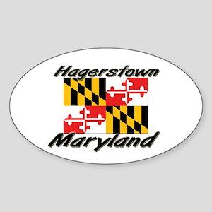 Hagerstown Maryland Oval Sticker