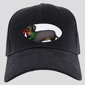 Dachshund Art Black Cap