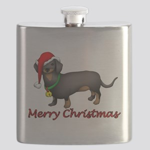 Dachshund Art Flask