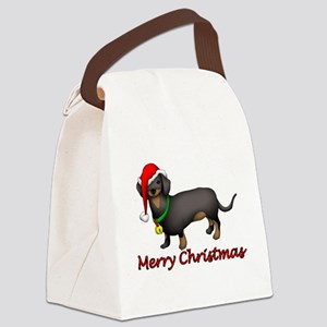 Dachshund Art Canvas Lunch Bag