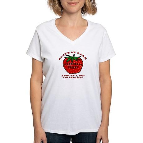 August 3, 2007 Women's V-Neck T-Shirt