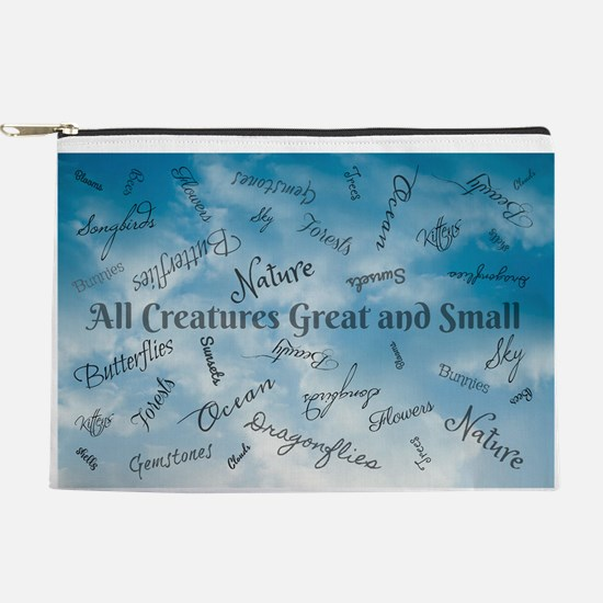 Creatures Great and Small Makeup Bag