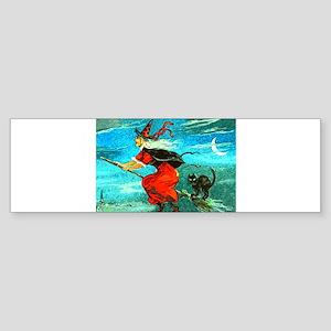 Flying Witch Bumper Sticker