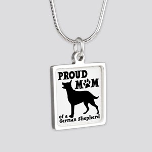 SHEPHERD MOM Silver Square Necklace