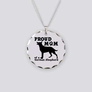 SHEPHERD MOM Necklace Circle Charm