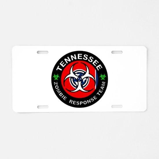 TN ZRT White Aluminum License Plate