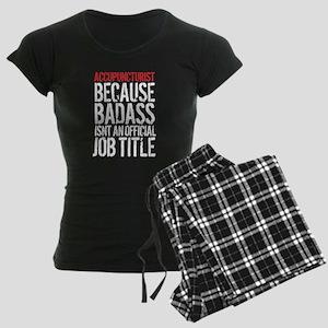 Badass Accupuncturist Women's Dark Pajamas