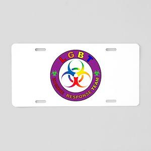 LGBT ZRT Rainbow Aluminum License Plate