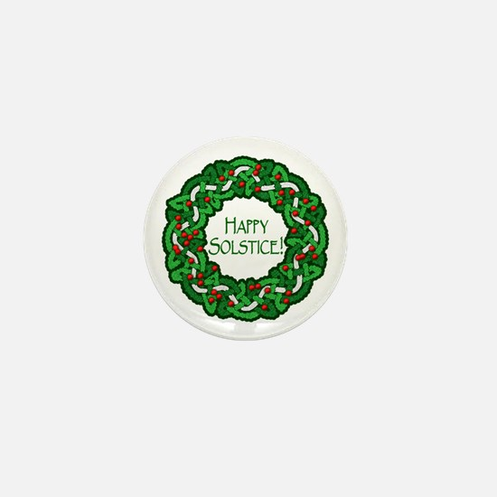Celtic Solstice Wreath Mini Button