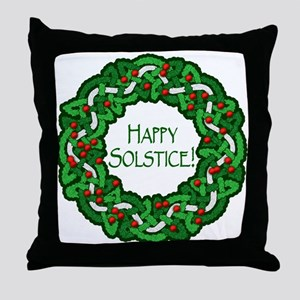 Celtic Solstice Wreath Throw Pillow