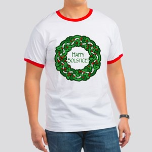 Celtic Solstice Wreath Ringer T