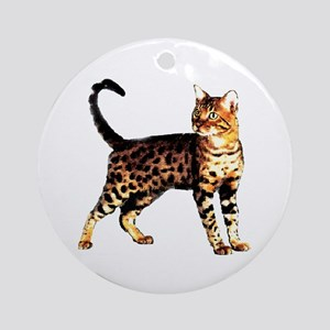 Bengal Cat: Raja Ornament (Round)