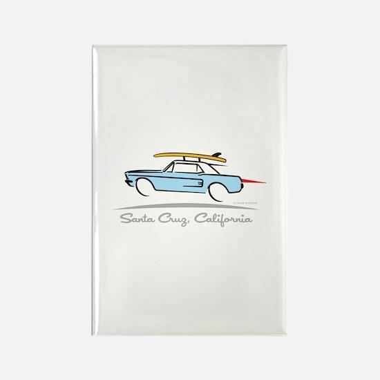 Ford Mustang Hardtop Santa Cruz Rectangle Magnet