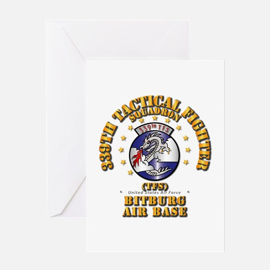 339th TFS - Bitberg AB Greeting Card