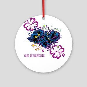 Traci K GO FIGURE design Round Ornament