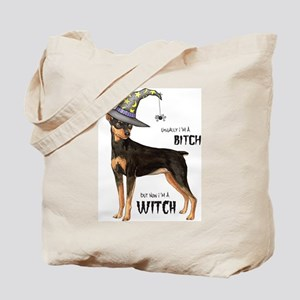 Min Pin Witch Tote Bag