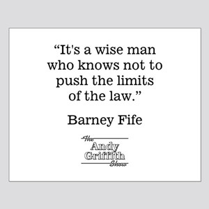 BARNEY FIFE QUOTE Small Poster