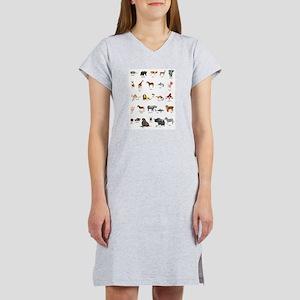 Animal pictures alphabet Women's Nightshirt