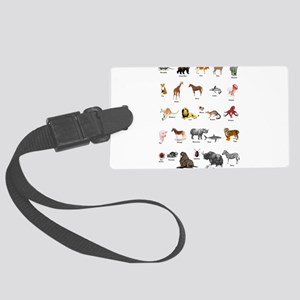 Animal pictures alphabet Large Luggage Tag