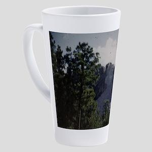 PICT0045 Mount Rushmore behind 17 oz Latte Mug