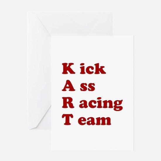 Cool Go kart racing Greeting Card
