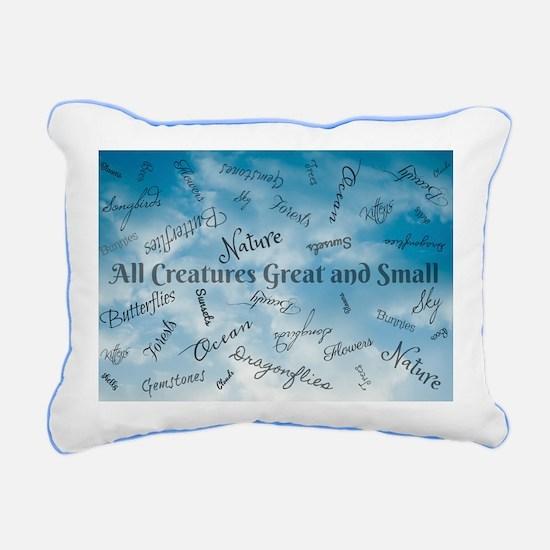 Creatures Great and Smal Rectangular Canvas Pillow