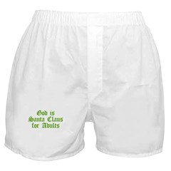 God is Santa Claus for Adults Boxer Shorts