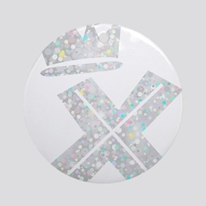 X, Alphabet Round Ornament