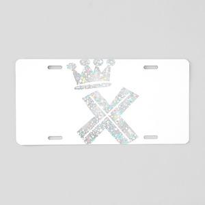 X, Alphabet Aluminum License Plate