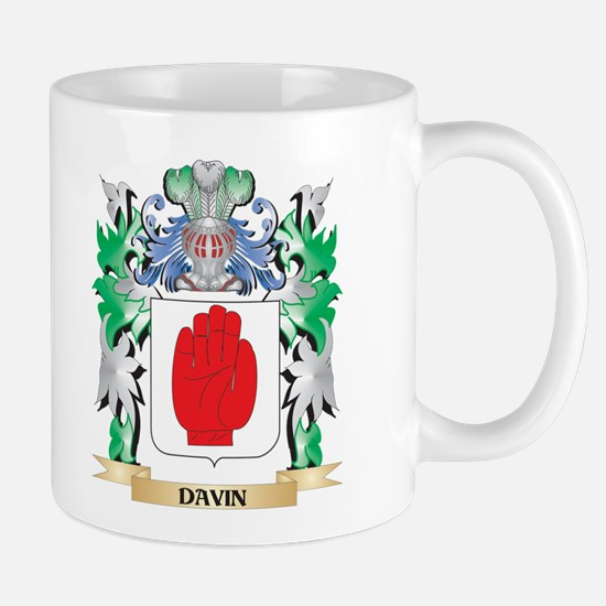 Davin Coat of Arms (Family Crest) Mugs