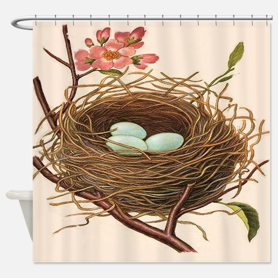 Cute Bird nest Shower Curtain