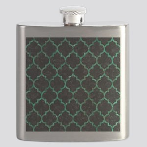 TILE1 BLACK MARBLE & GREEN MARBLE (R) Flask