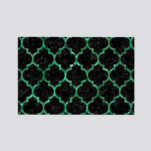 TILE1 BLACK MARBLE & GREEN MARBLE Rectangle Magnet