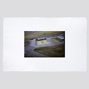 small airport view from a flying plane 4' x 6' Rug