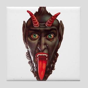 monster krampus Tile Coaster
