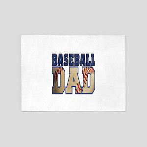 baseball dad 5'x7'Area Rug