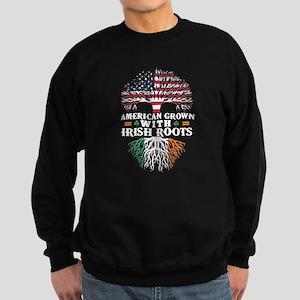 American Grown with Irish Roots Shirt Sweatshirt