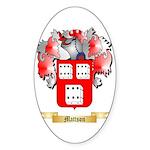 Mattson Sticker (Oval 50 pk)
