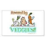 Powered by Veggies Rectangle Sticker