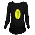 Christmas Candle Tre Long Sleeve Maternity T-Shirt