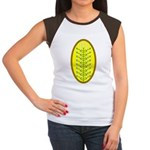 Christmas Candle Tree Junior's Cap Sleeve T-Shirt