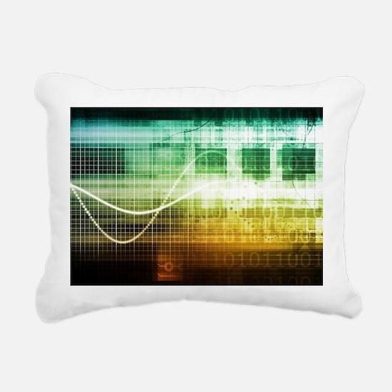 Unique Data shield Rectangular Canvas Pillow