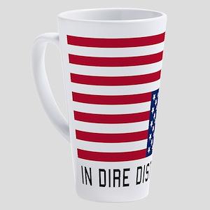 Upside Down Flag Distress 17 oz Latte Mug