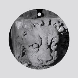 Stone Lion Ornament (Round)
