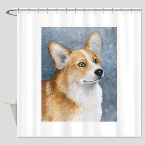 Dog 89 corgi Shower Curtain