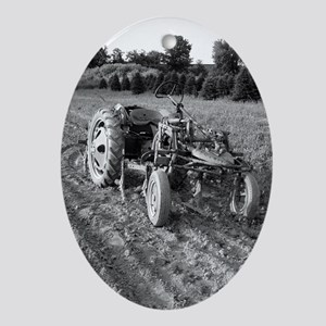 Tractor Oval Ornament